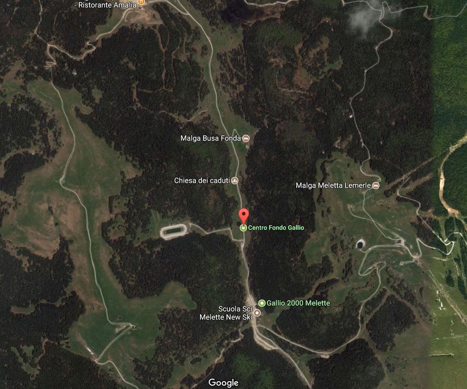 posizione mappa centro fondo gallio