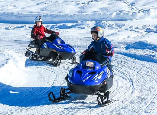 Autonomous driving snowmobiles