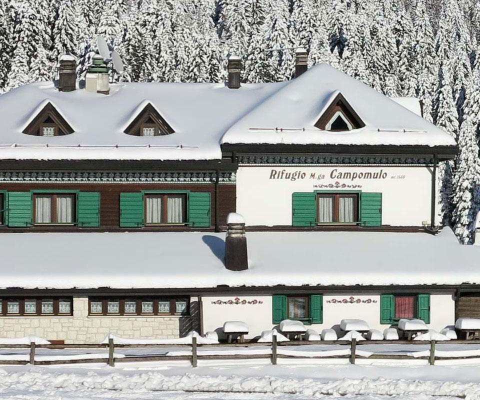 rifugio malga campomulo inverno