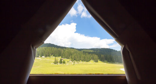 vista da camere rifugio